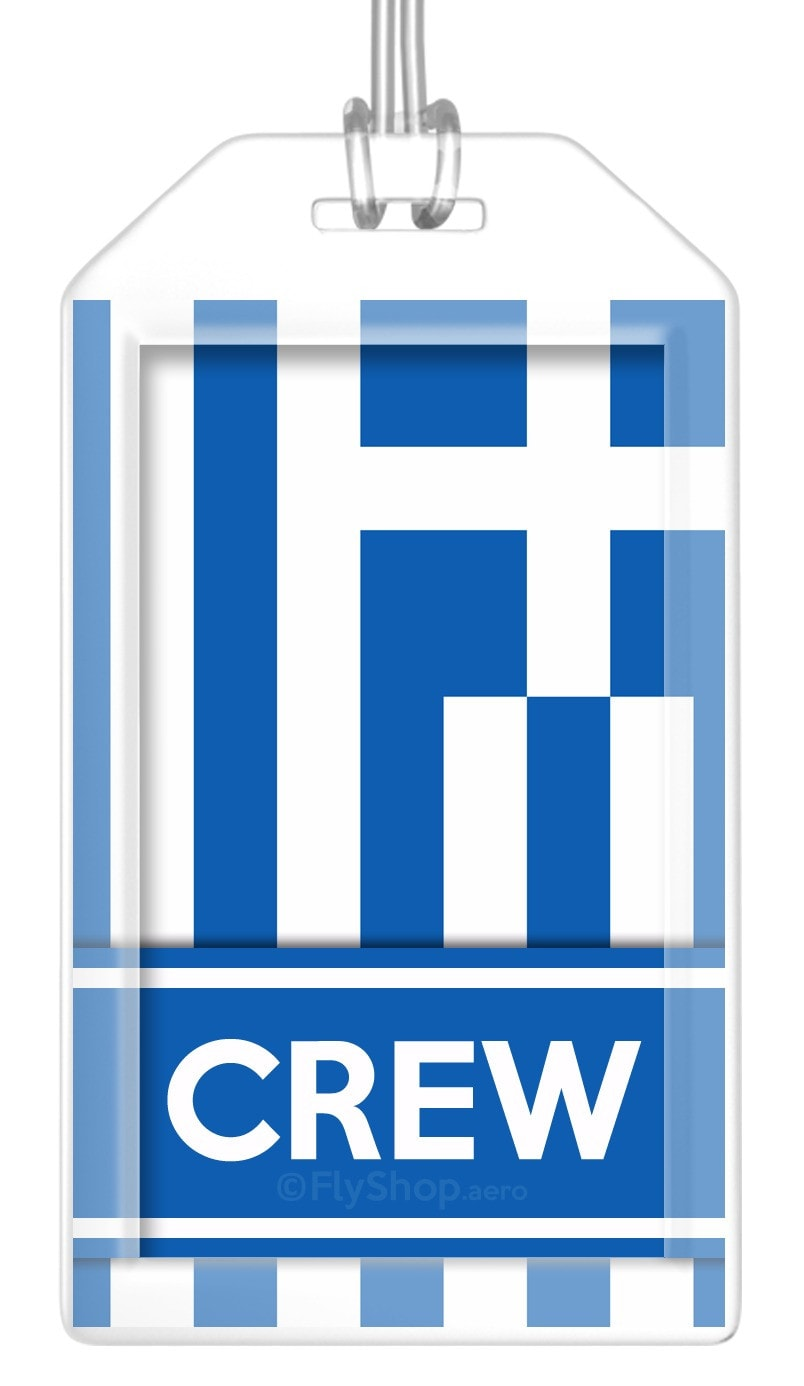Greece Flag Crew Bag Tag (Set of 2)