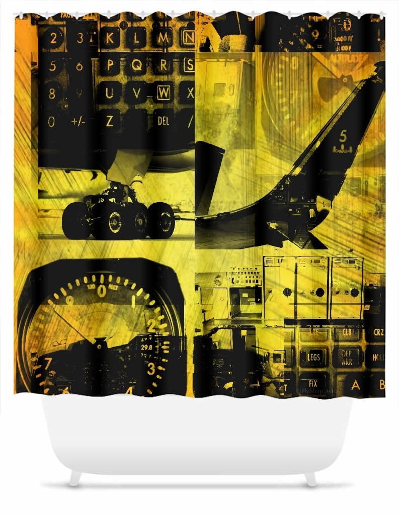 Flight Collage Shower Curtain