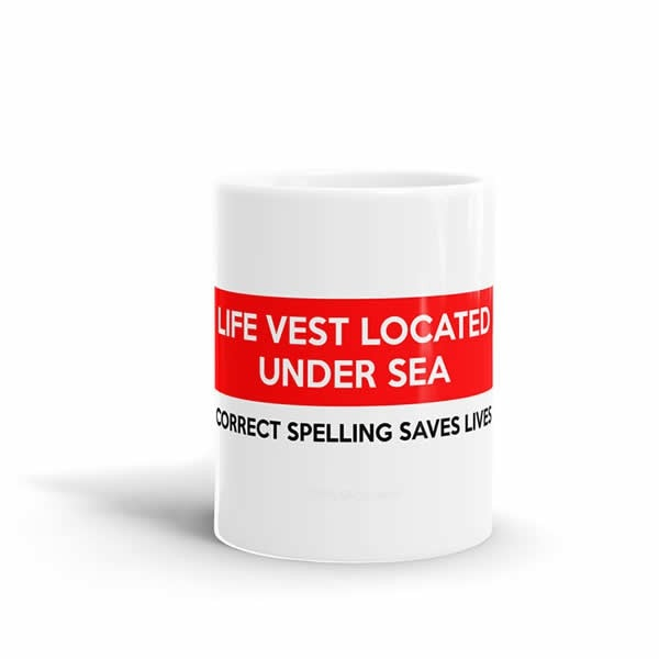 Life Vest Located Under Sea Mug