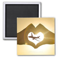 Heart Hands Airbus Series Magnet