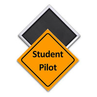 Caution Student Pilot Magnet