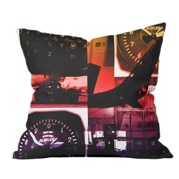 Flight Collage Pillow