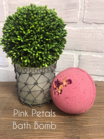 PINK PETALS LUXURY BATH BOMB 7.5oz