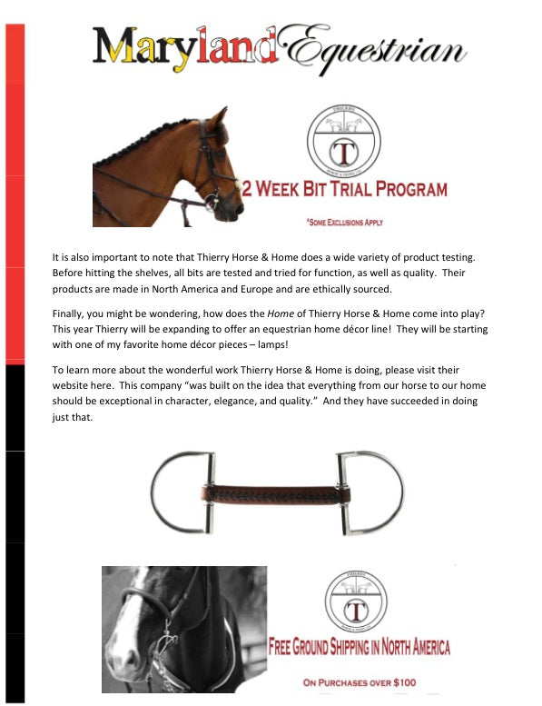 News – Thierry Horse & Home Co