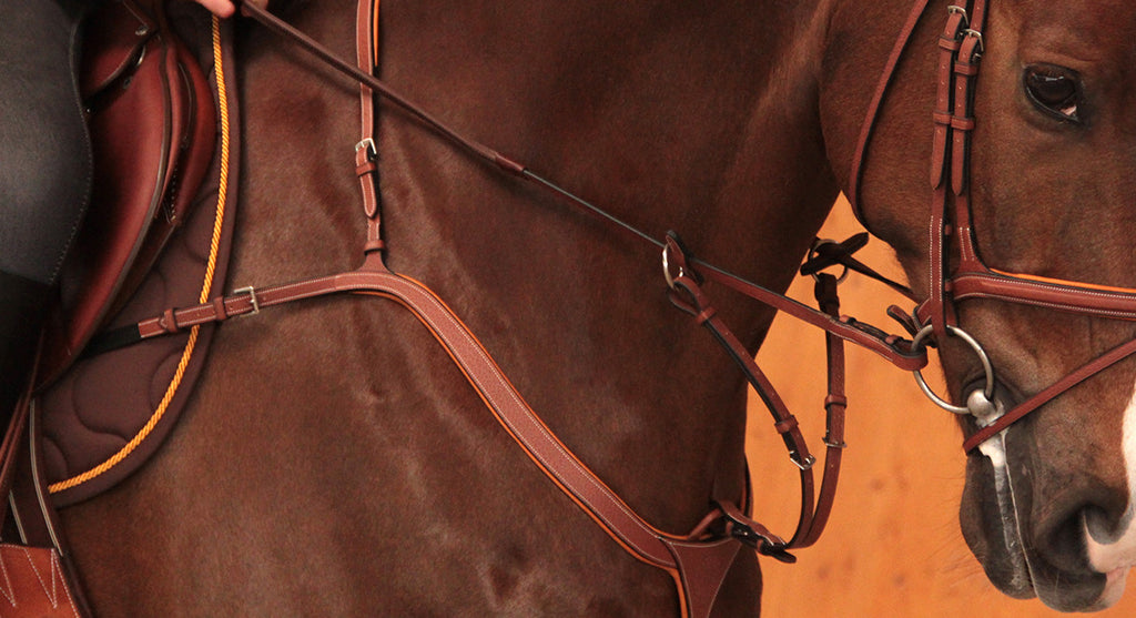 BUTET BREASTPLATE WITH RUNNING MARTINGALE ATTACHMENT