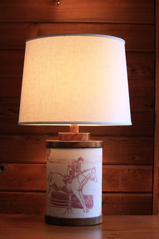 HAND CRAFTED VINTAGE STYLE CANTER TABLE LAMP