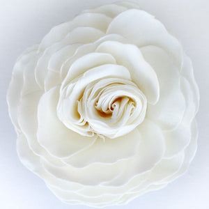 God's Grace White Garden Rose Soap Flower