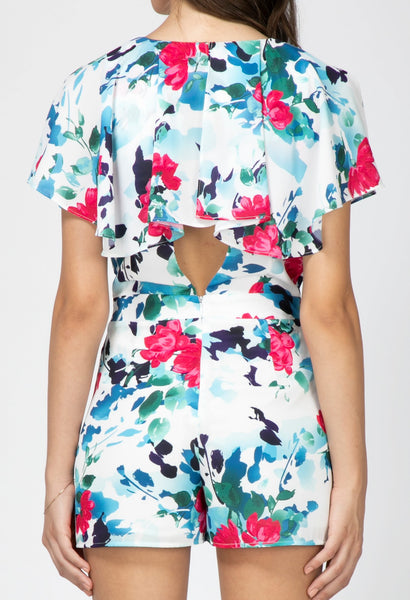 Somers Wrap Floral Romper