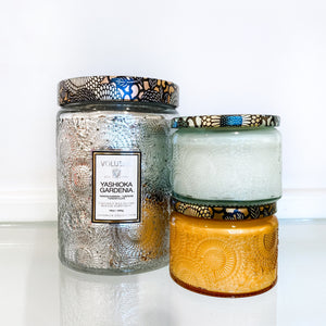 Voluspa Large Jar + 2 Petite Jar Candles