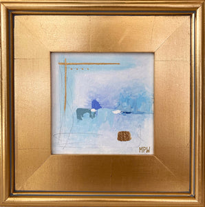 """II"" Gold Leaf Framed 12"" x 12"""