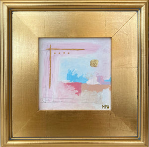 """IX"" Gold Leaf Framed 12"" x 12"""