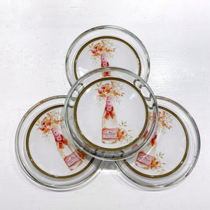 Floral Pop Glass Coasters (Set of 4)