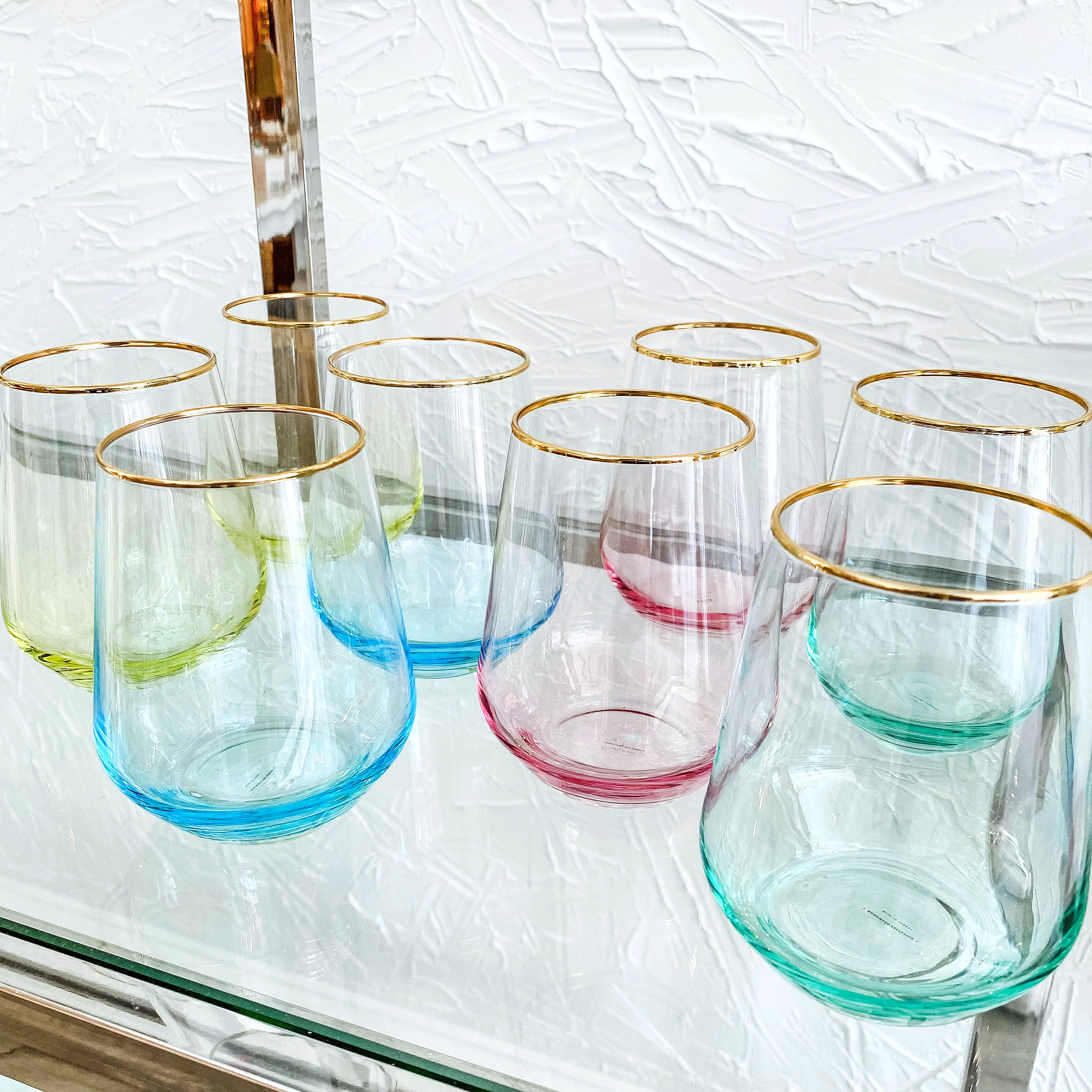 Special Order- 4 Blush Glasses