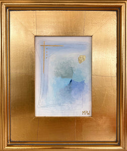 """I"" Gold Leaf Framed"