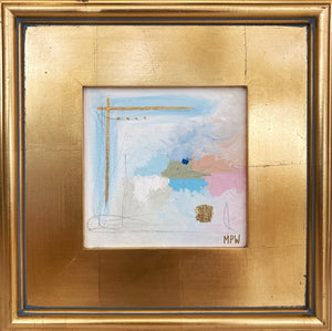 """III"" Gold Leaf Framed 12"" x 12"""