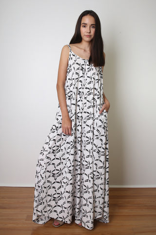 KUI U-Back Mini / Wahinehi'u'ia (Mermaid Tail) Black & White