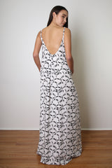 KEA U-Back Maxi / Wahinehi'ui'a (Mermaid Tail) Black & White