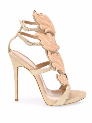Giuseppe Zanotti Winged Suede Sandals