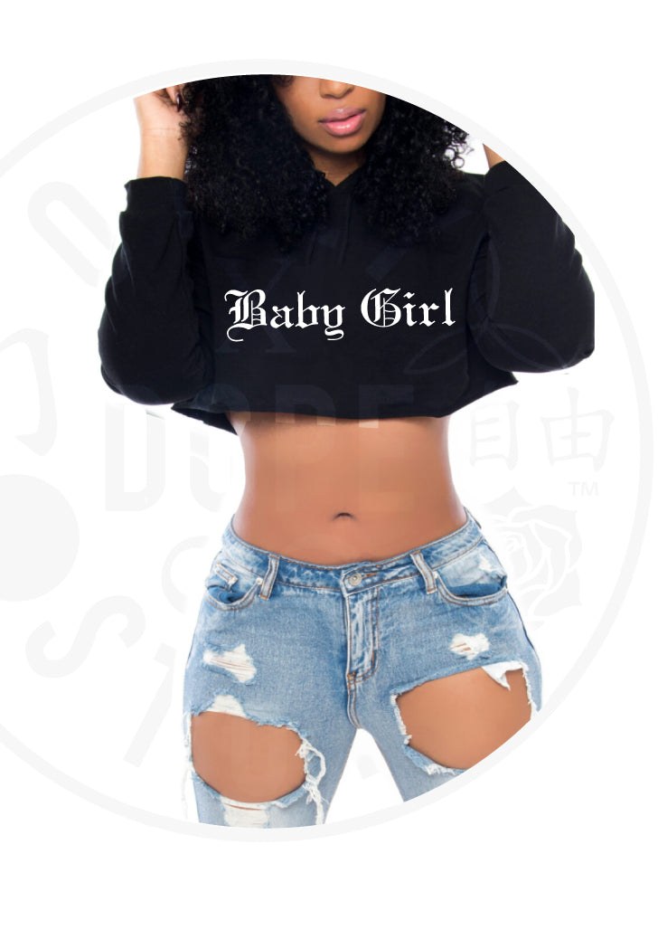 6a388865b Baby Girl Cropped Hoodie – Only Dope Stuff