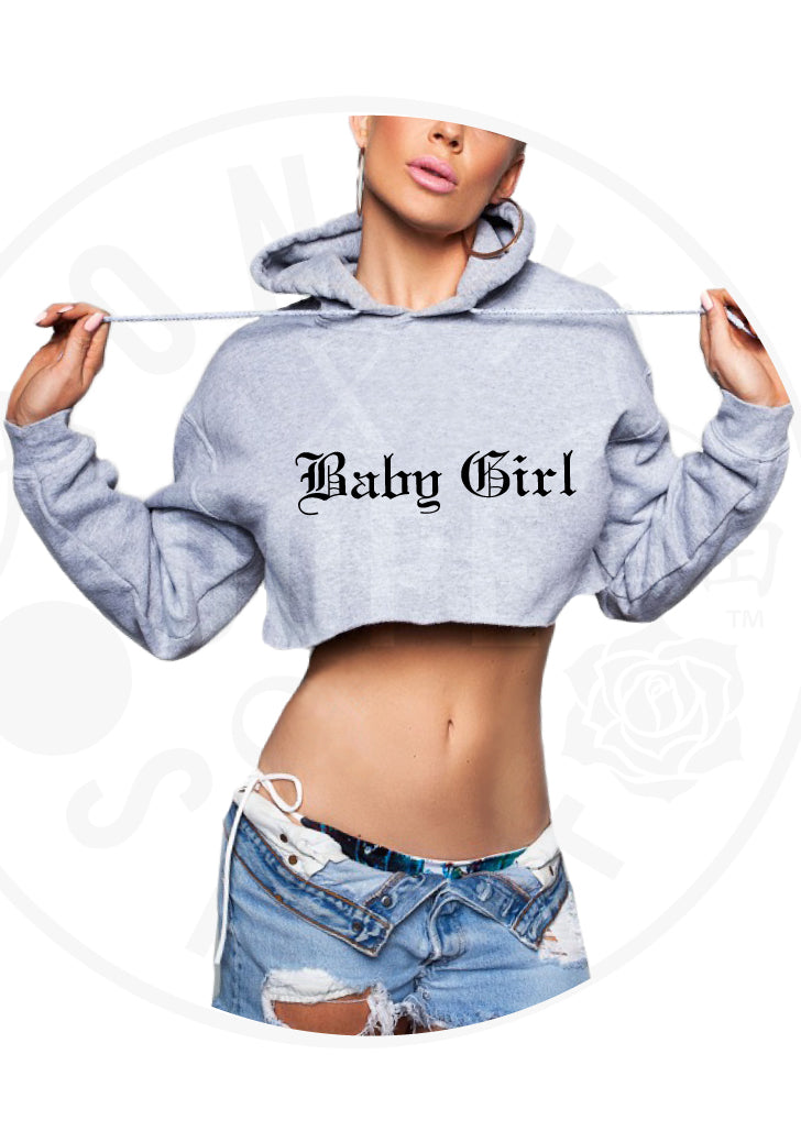 Baby Girl Cropped Hoodie