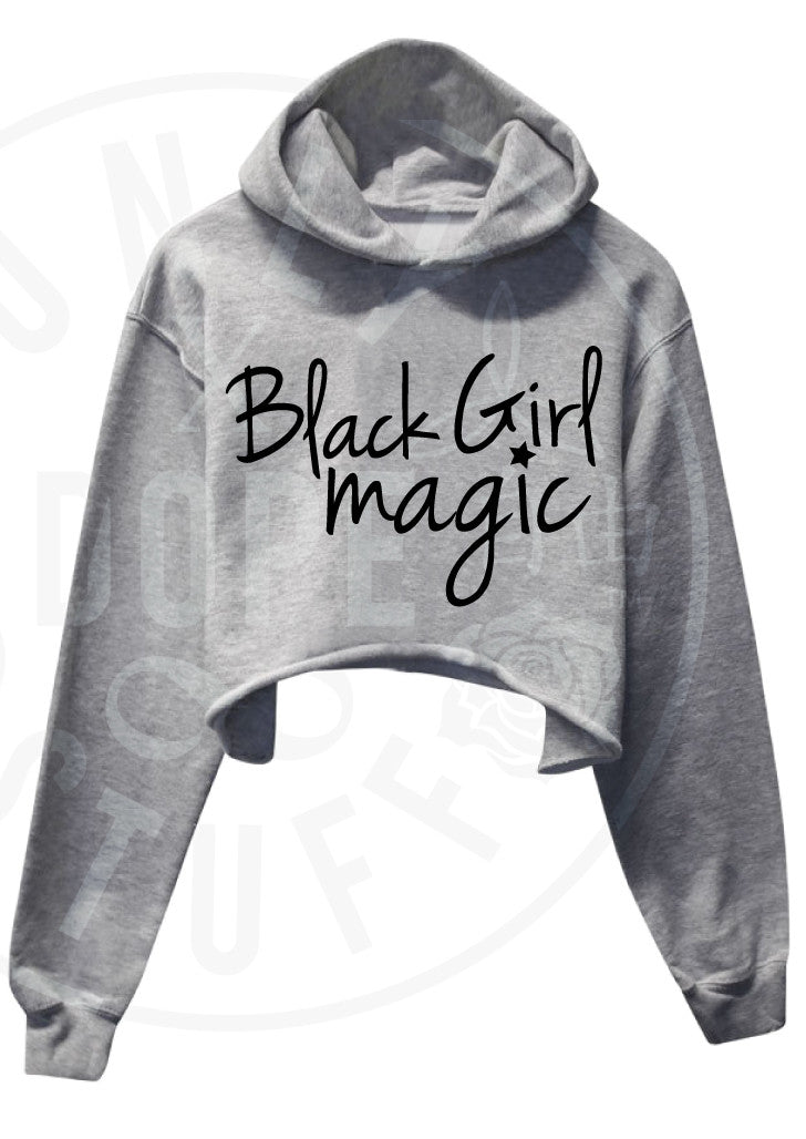 Black Girl Magic Cropped Hoodie