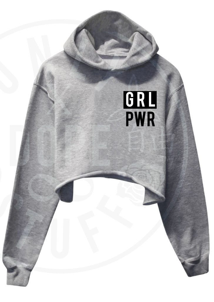 Girl Power Cropped Hoodie