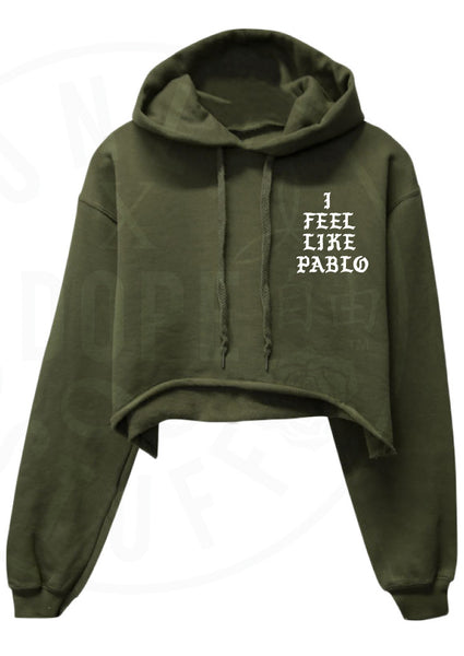 I Feel Like Pablo Cropped Hoodie