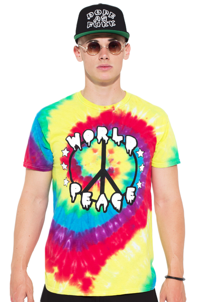 World Peace Tie-Dye Tee