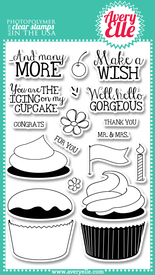 Avery Elle Cupcakes Stamp Set