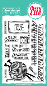 Avery Elle Made With Love Stamp Set