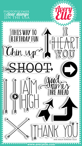 Avery Elle Aim High Stamp Set