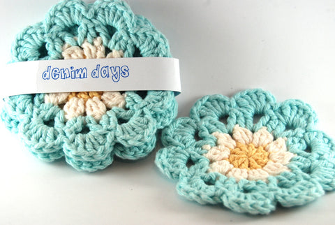 Daisy Coasters set of 4