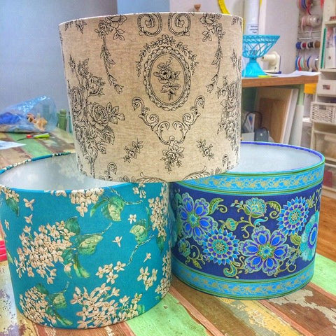 lampshade making class at the camp hill antique centre