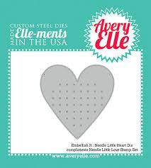 Avery Elle Embellish it Needle Little Heart Die