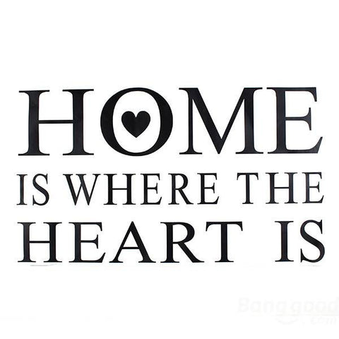 "Dekorativni stikeri sa natpisom ""Home is where the heart is"""