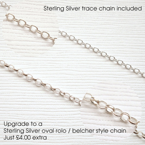 Sterling Silver Script Letter Necklace - Mia Belle Jewellery