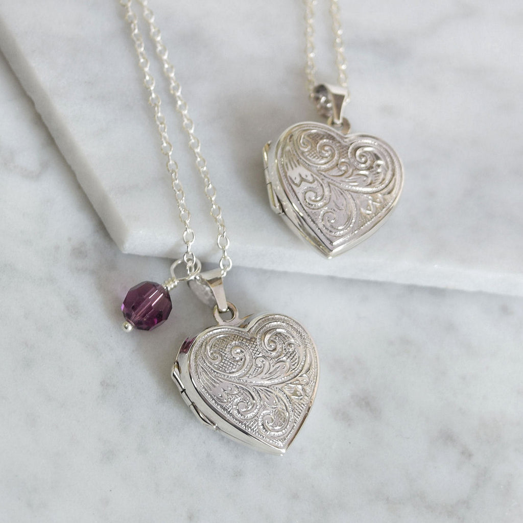 Sterling Silver Heart Locket - Mia Belle Jewellery