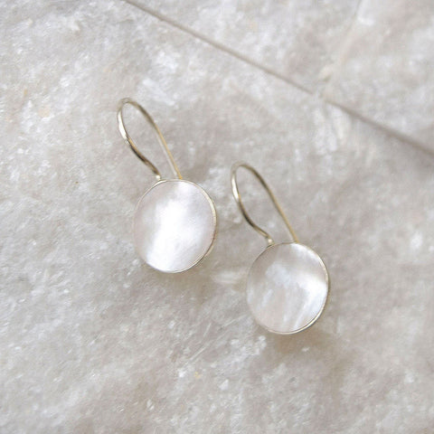 Sterling Silver Mother Of Pearl Earrings - Mia Belle Jewellery