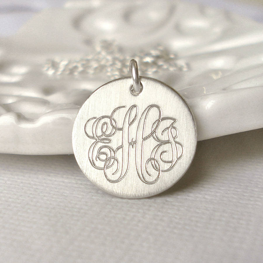 Classic Sterling Silver Monogram Necklace - Mia Belle Jewellery