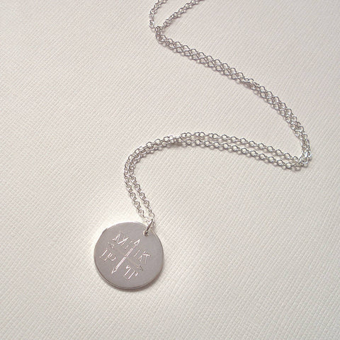 Engraved Monogram Arrows Necklace - Mia Belle Jewellery