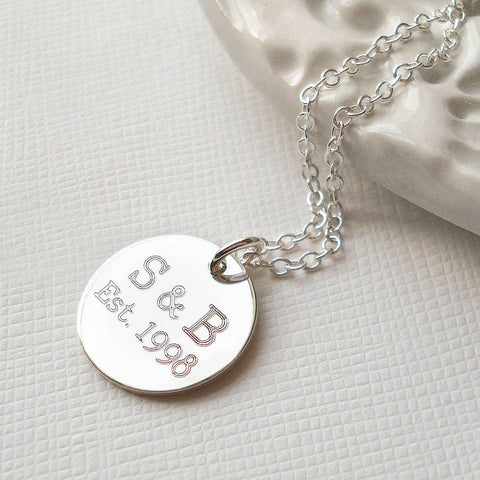 Personalised Love Established Necklace - Mia Belle Jewellery