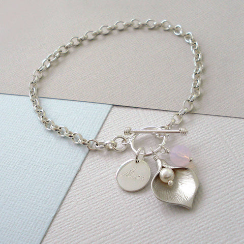 Personalised Calla Lily Bracelet