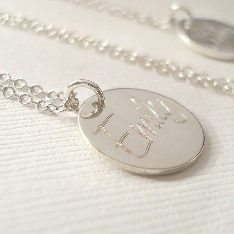 Personalised Engraved Name Necklace - Mia Belle Jewellery