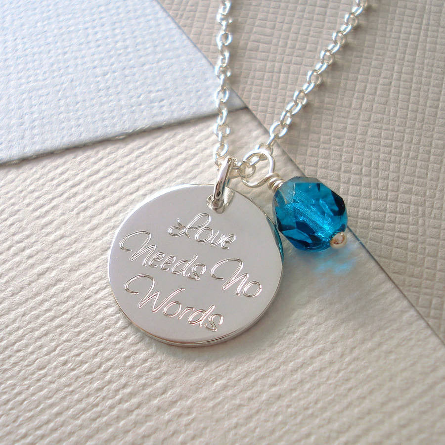 Personalised 'Your Words' Necklace - Mia Belle Jewellery