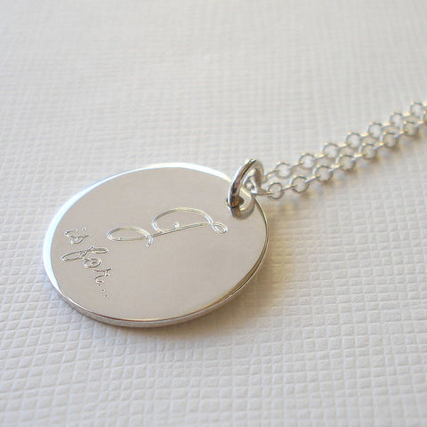 Sterling Silver Secret Name Necklace - Mia Belle Jewellery