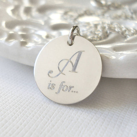 Sterling Silver Secret Name Necklace