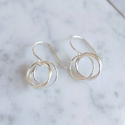 Sterling Silver Circles Earrings - Mia Belle Jewellery
