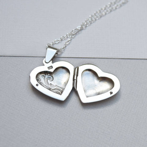 Sterling Silver Classic Heart Locket - Mia Belle Jewellery