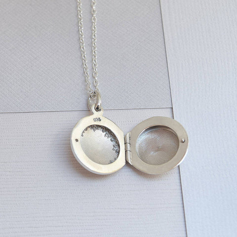 Sterling Silver Classic Round Locket - Mia Belle Jewellery