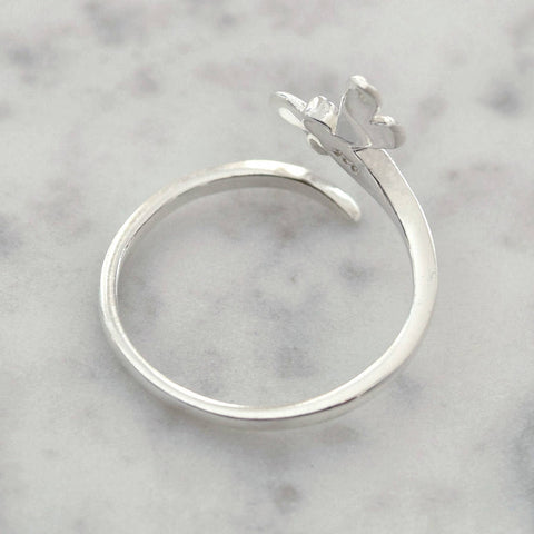 Sterling Silver Dragonfly Wrap Ring - Mia Belle Jewellery